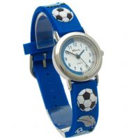 Ravel Kids Childs Football Design Watch 3D Silicone Strap Football Blue 1513.32b